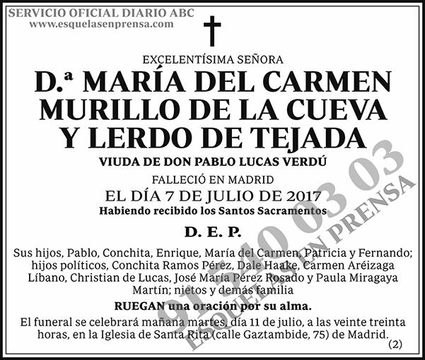 María del Carmen Murillo de la Cueva y Lerdo de Tejada